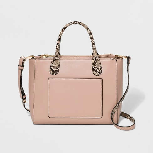 Triple Compartment Satchel Handbag - A New Day™ - image 1 of 3