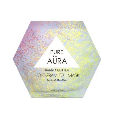 Pure Aura Karma Glitter Foil Mask - 0.88 fl oz