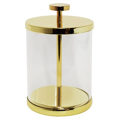 Canister Gold/Glass (Small)- Nate Berkus™