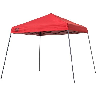 Quik Shade 160715DS Expedition 10 Foot x 10 Foot Instant Pop Up Outdoor Shaded Canopy Tent Shelter for Up to 12 People, Red