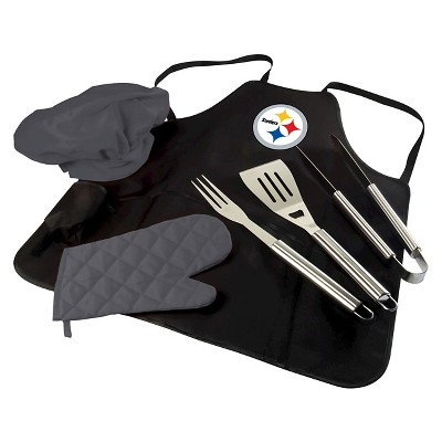 Pittsburgh Steelers BBQ Apron Tote Pro by Picnic Time