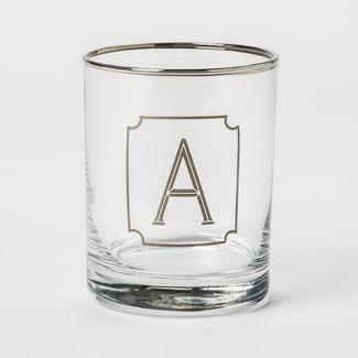 13.3oz Monogram Double Old-Fashioned Glass B - Threshold™