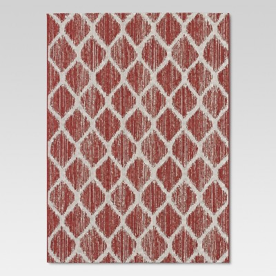 Brushed Diamond Red Outdoor Rug - 5'x7' - Threshold™