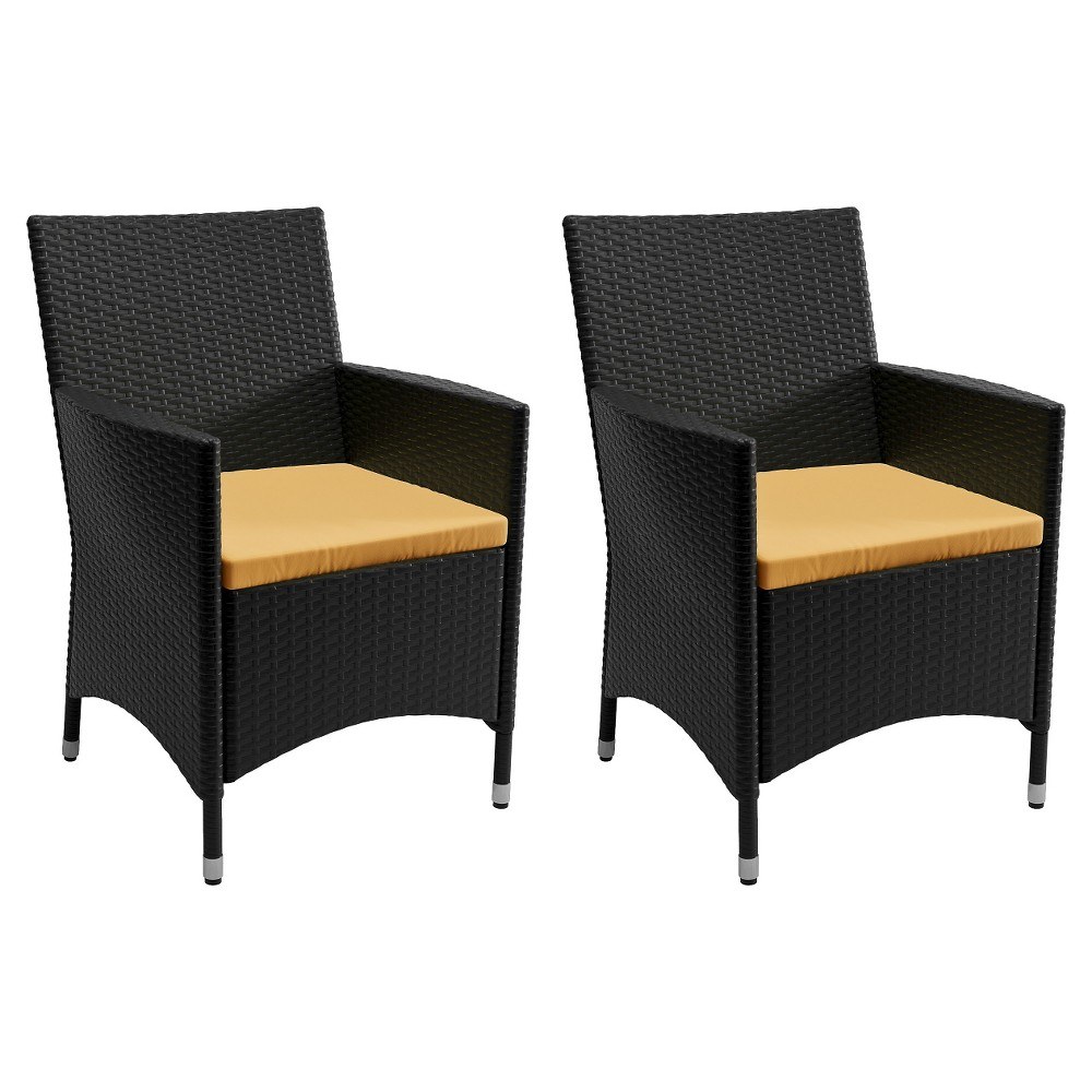 Image of Sonax Cascade 2-Piece Patio Chair Set - Charcoal Black