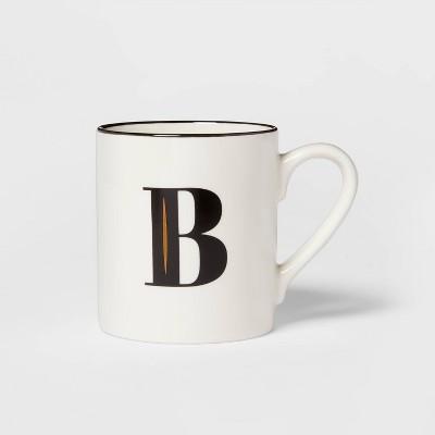 16oz Stoneware Monogram B Mug White - Threshold™