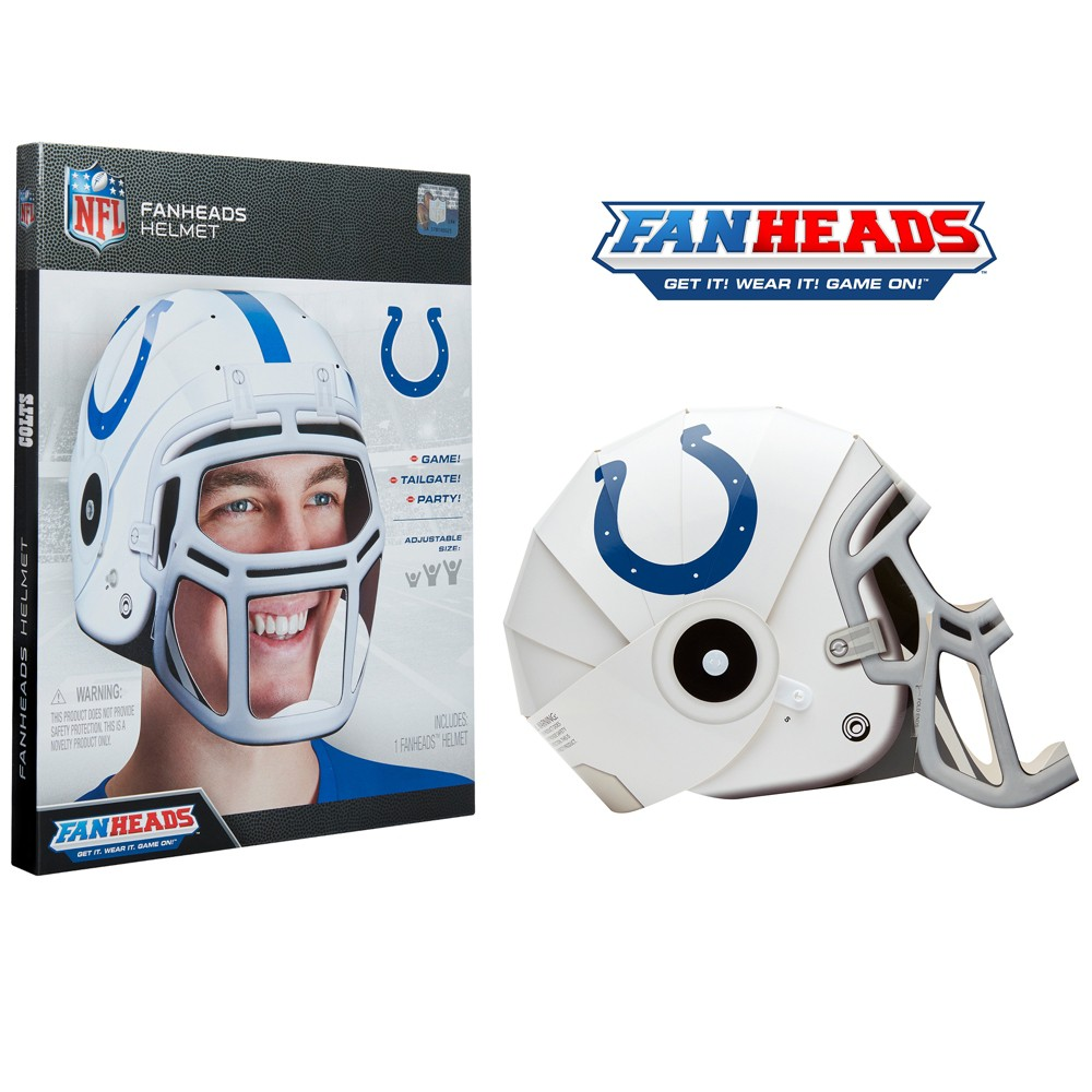 NFL Indianapolis Colts FanHeads Laminate Paper Football Helmet, Adult Unisex