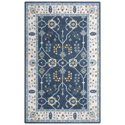 Conley Floral Wool Area Rug - Rizzy Home