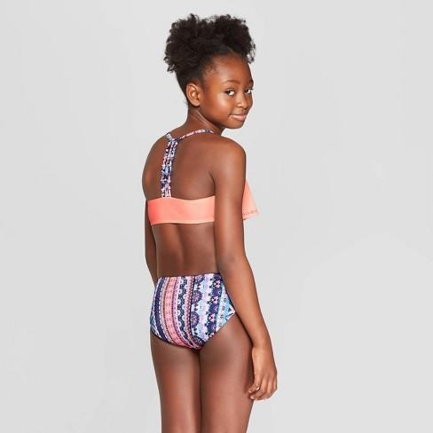 1b5b721c34 Girls' Baja Beach Stripe Bikini Set - Art Class™ Peach : Target