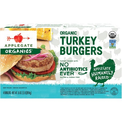Applegate Organic Turkey Burger - Frozen - 16oz/4pk