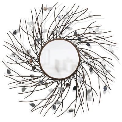 Metal Tree Design Limbed Reflection Mirror Bronze/Copper - StyleCraft
