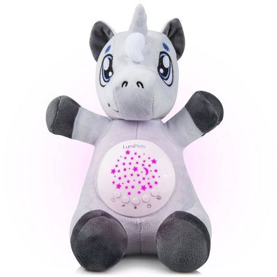 Lumipets Plush Nightlight Baby Sound Soother and Star Projector - Unicorn