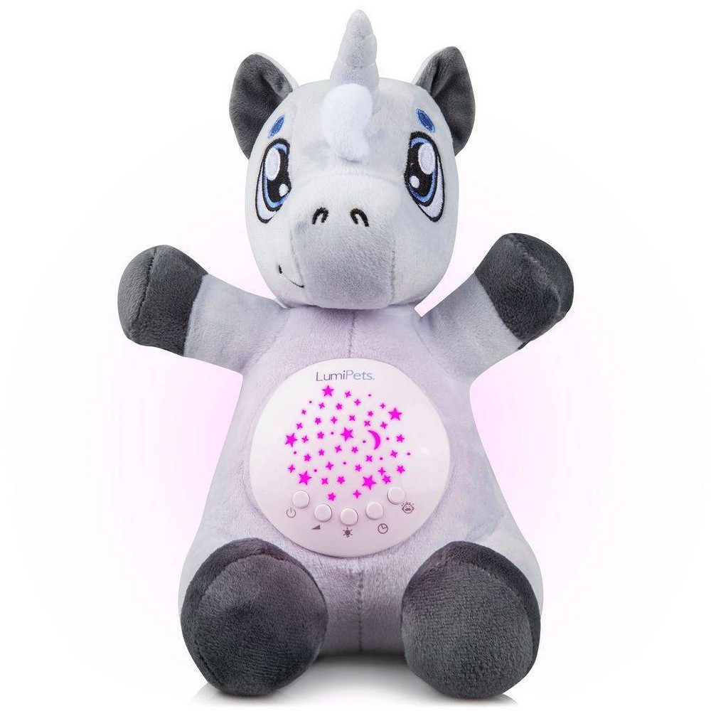 Image of Lumipets Plush Nightlight Baby Sound Soother and Star Projector - Unicorn