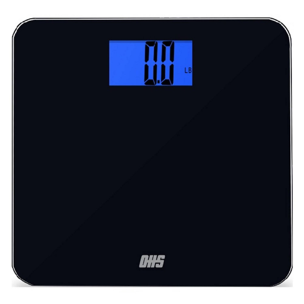 Image of Tone 400 Talking Bathroom Scale Black - Optima Home Scales