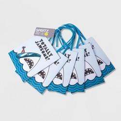 6ct Shark Print Treat Bag - Spritz™