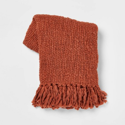 Chunky Woven Throw Blanket Brown - Threshold™