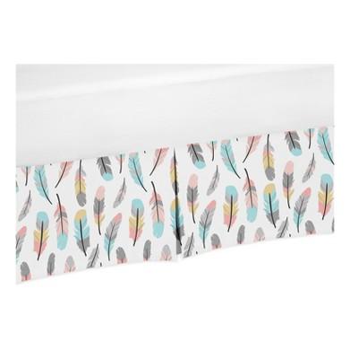 Sweet Jojo Designs Feather Crib Skirt