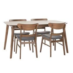 Idalia Rectangular 5pc Dining Set - Dark Gray - Christopher Knight Home