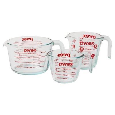 Pyrex Measuring Cup Set 3 piece