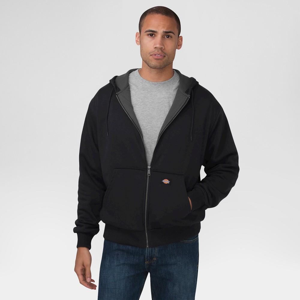 Dickies Men's Big & Tall Thermal Lined Fleece Hoodie - Black 3XL