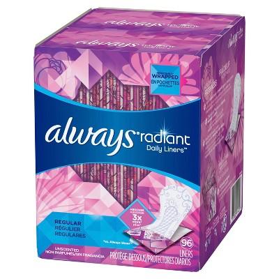 Panty Liners: Always Radiant