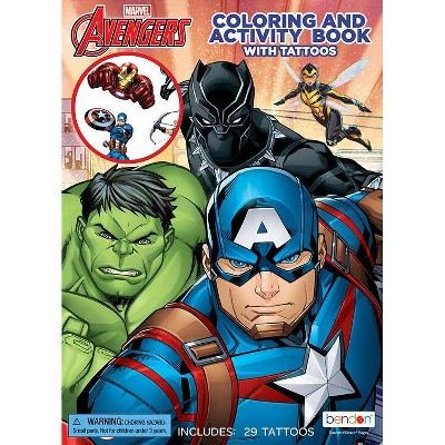 Avengers Coloring Book with Tattoos