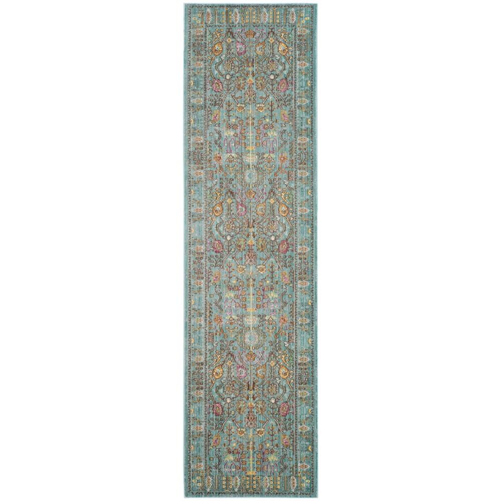 2'3X12' Loomed Floral Runner Rug Steel Blue - Safavieh