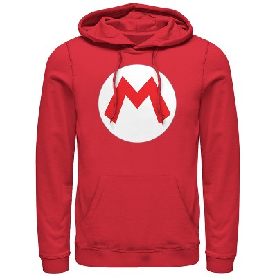 Men's Nintendo Mario Circle Icon Pull Over Hoodie