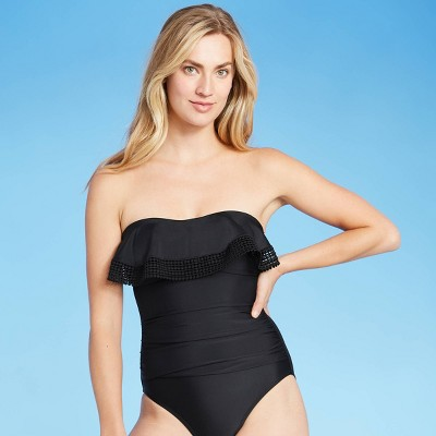 Women's Crochet Flounce Classic One Piece Swimsuit - Kona Sol™