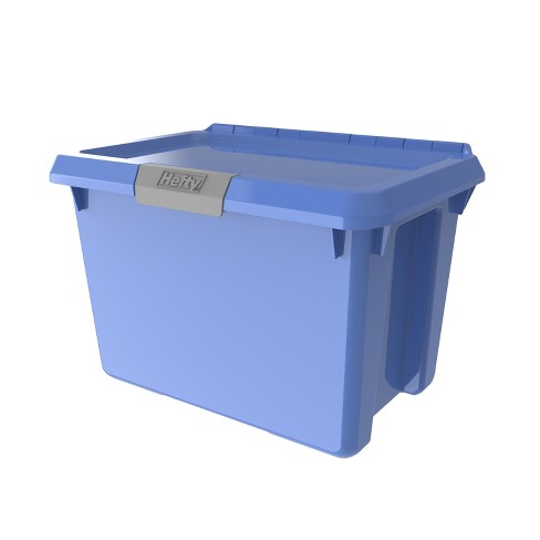 20qt Hinged Lind Tote Bicycle Blue - Hefty - image 1 of 4