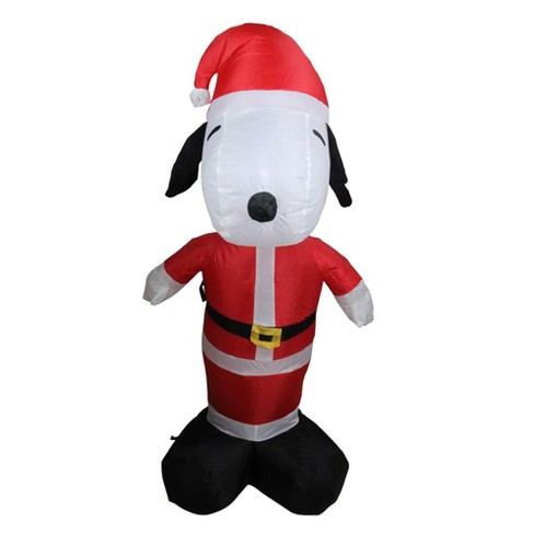 Snoopy And Woodstock Christmas Inflatable.Arett Sales 3 5 Inflatable Peanuts Led Lighted Snoopy Santa Claus Christmas Outdoor Decoration