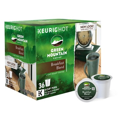 Green Mountain Coffee Breakfast Blend Light Roast Coffee - Keurig K-Cup Pods - 36ct