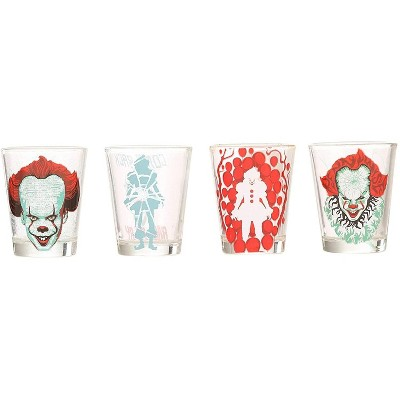 Silver Buffalo IT Pennywise & Quotes 4 Piece 1.5oz Mini Glass Set