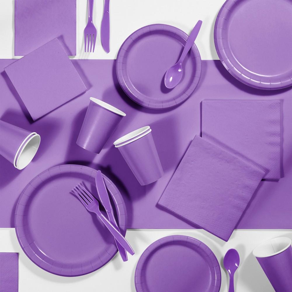245pk Party Supplies Kit Purple Top