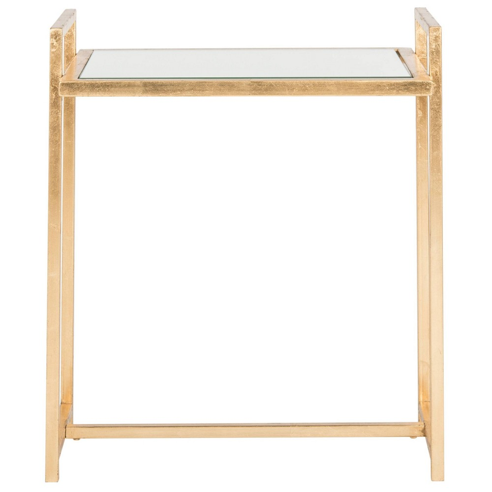 Renly End Table - Gold / Mirror - Safavieh