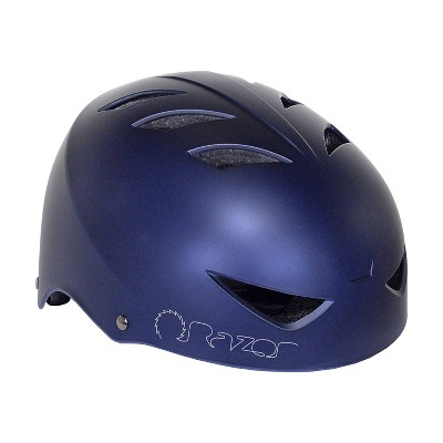 Razor 97862 V-12 Adult One Size Safety Multi Sport Bicycle Helmet with 12 Cooling Vents, Adjustable Strap, and Padding, Satin Navy