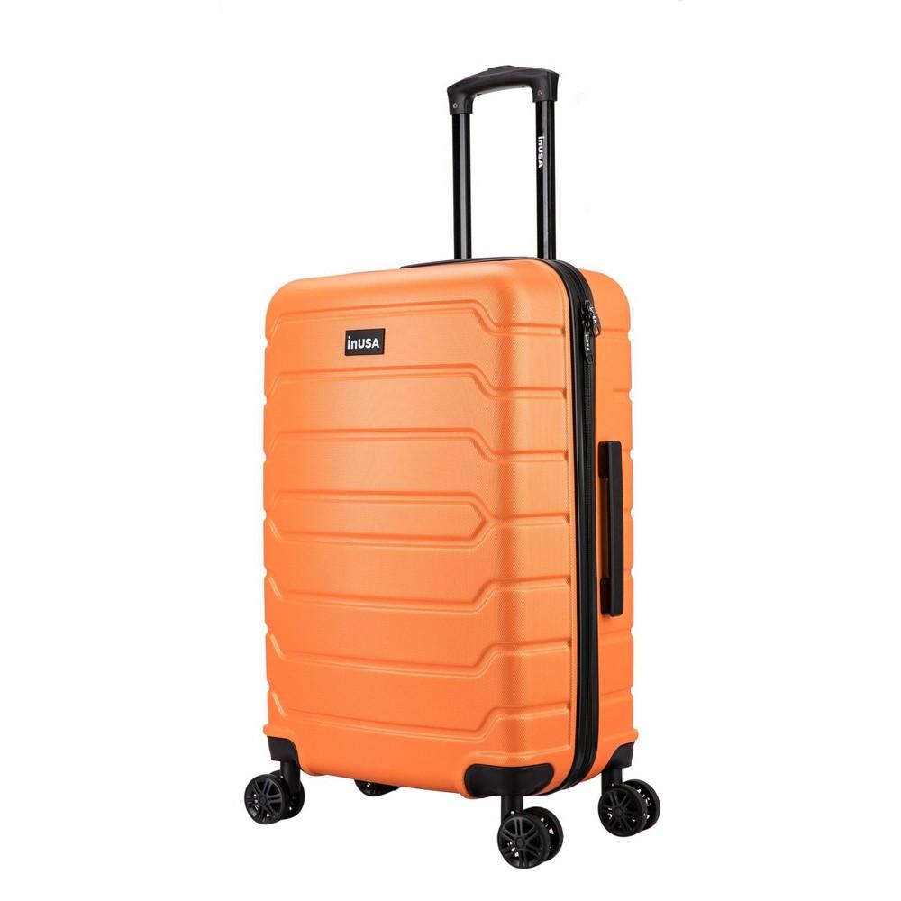 Inusa Trend 24 34 Lightweight Hardside Spinner Suitcase Orange