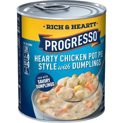 Progresso Rich & Hearty Chicken Pot Pie Style with Dumplings Soup - 18.5oz