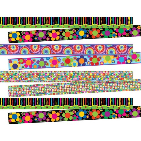 Barker Creek 140ft 4 Designs Just Groovy Double Sided Border Set - image 1 of 4