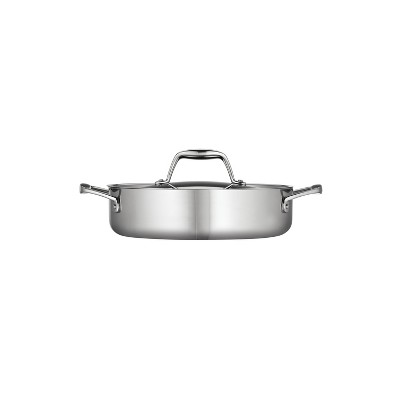 Tramontina Gourmet Tri-Ply Clad 3qt Braiser with Lid Silver