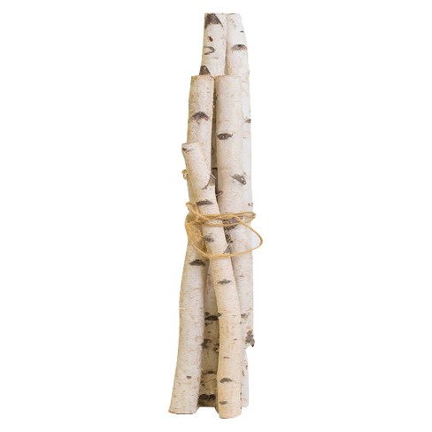 Artificial Birch Pole Planter Set 48 White Vickerman Target
