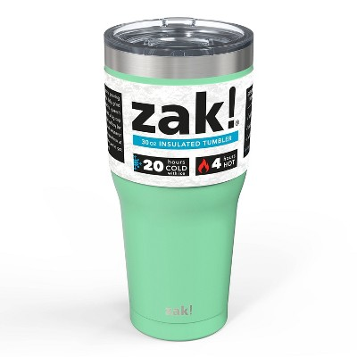 Zak! Designs 30oz Double Wall Stainless Steel Tumbler - Neo Mint