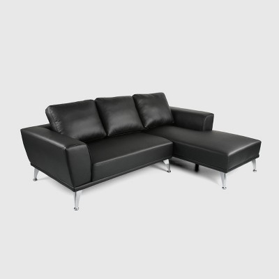 2pc Connel Modern Chaise Sectional Set Black - Christopher Knight Home