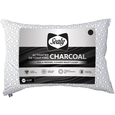 Sealy Jumbo Charcoal Infused Bed Pillow