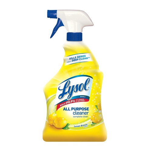 Lysol Lemon Breeze Scented All Purpose Cleaner & Disinfectant Spray - 32oz - image 1 of 6