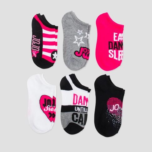 Girls' Nickelodeon JoJo Siwa 6pk Socks - Black/Pink - image 1 of 1