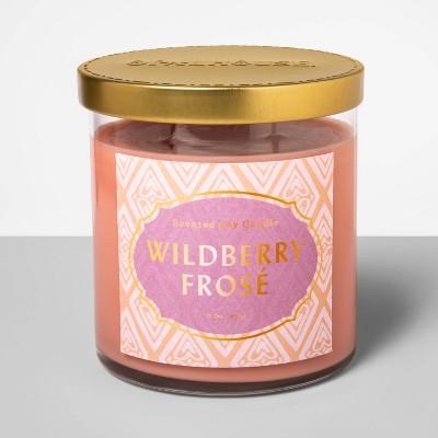 15.2oz Glass Jar 2-Wick Candle Wildbery Frosé - Opalhouse™
