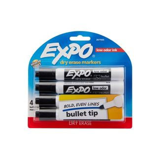 Expo 4pk Bullet Dry Erase Markers Black