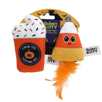 Halloween Quirky Kitty Purr Spice Latte Cat Toy