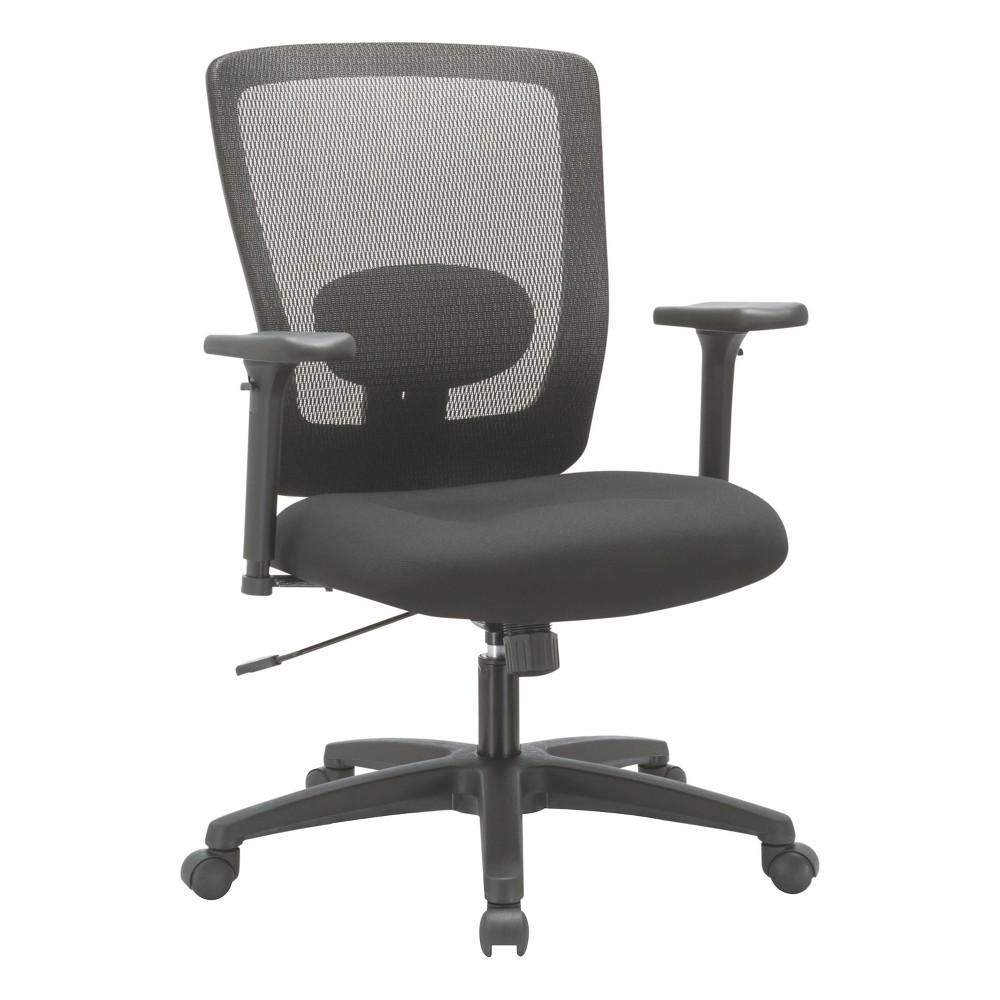 Image of Alera Alera Envy Series Mesh Mid-Back Swivel/Tilt Chair, Black