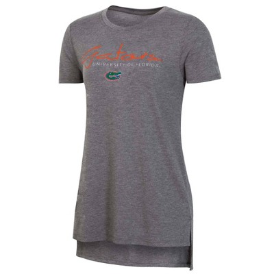 NCAA Florida Gators Women's Short Sleeve Gray Drape T-Shirt